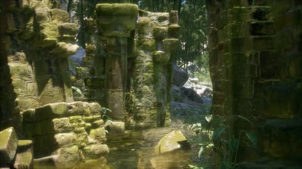 Thumbnail for Stone Ruins in a Forest, Abandoned Ancient Castle