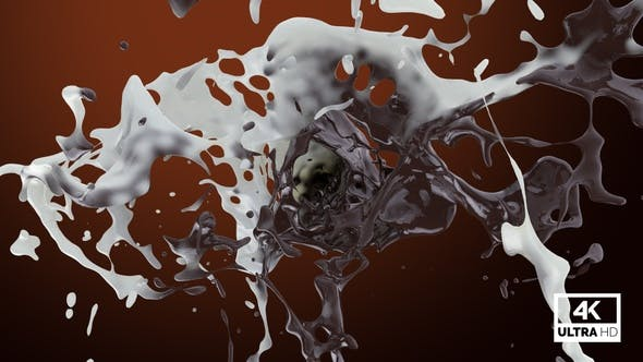 Thumbnail for Chocolate And Milk Mixing Splash