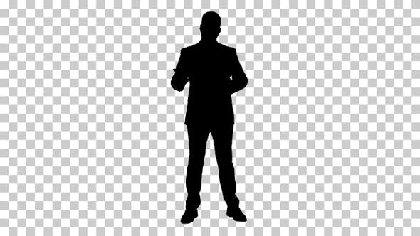 Thumbnail for Silhouette businessman , Alpha Channel