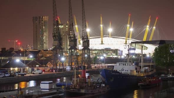 docklands canary wharf london o2 millenium dome