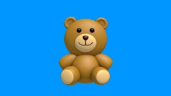 Thumbnail for Teddy Bear 3D Swinging – Looped