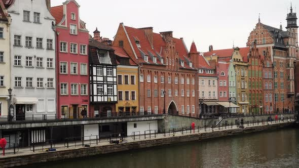 Thumbnail for Buildings On A River Motlawa Bank At The Center Of Gdansk