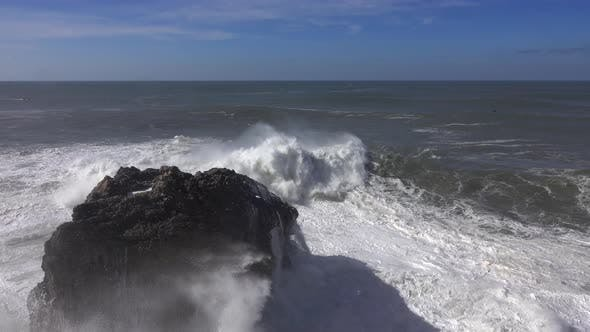 Thumbnail for High Waves Breaking on the Rocks of the Coastline