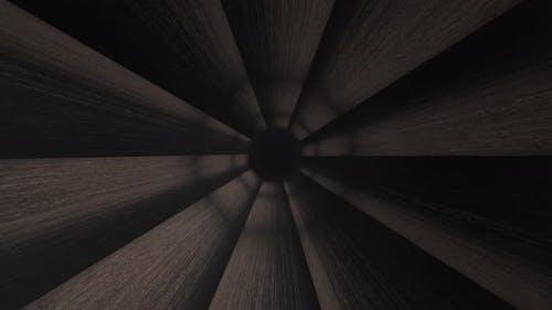 Animation of tunnel like gun barrel