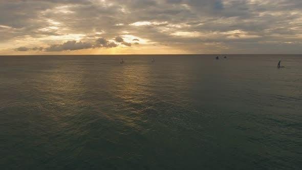 Thumbnail for Sailing Yachts at Sunset