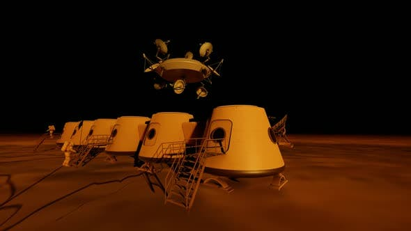 Cover Image for Space Research Station on the Planet Surface