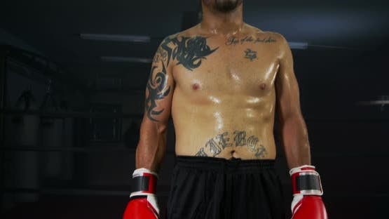 Boxer Ready To Fight At The Gym 28b