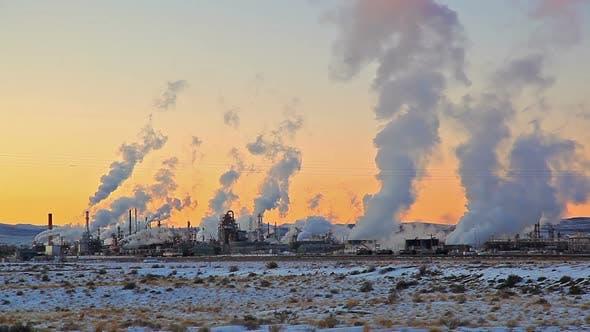 Thumbnail for Smoke Stacks Skyline in Wyoming