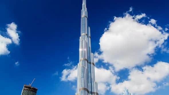 Thumbnail for Burj Khalifa Day Time Lapse Dubai. Pan Up