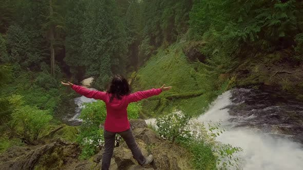 Thumbnail for Asian Woman Enjoying Nature