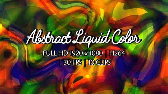 Thumbnail for Abstract Liquid Color Loop Background