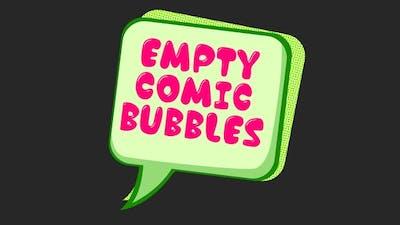 Empty Comic Bubbles