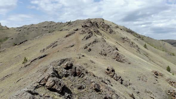 Drone Footage Flying Over Mountain