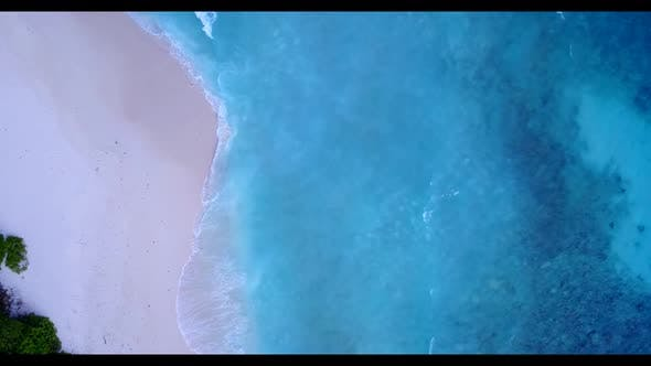 Thumbnail for Aerial above scenery of beautiful coastline beach holiday by blue sea with white sand background of