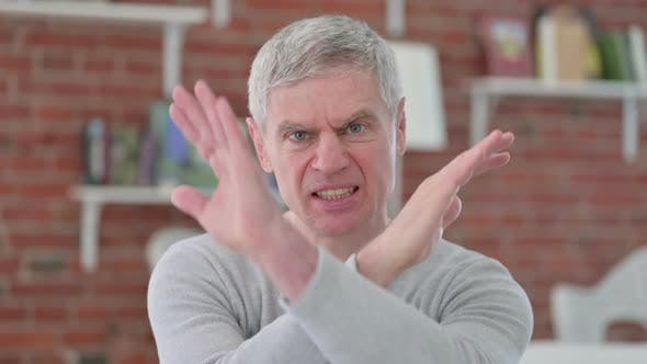 Thumbnail for Senior Old Man Saying No with Hand Gesture
