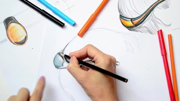 Thumbnail for Designer is Drawing New Wearable Devices