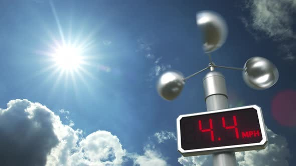 Thumbnail for Wind Speed Measuring Anemometer Shows 40 Mph