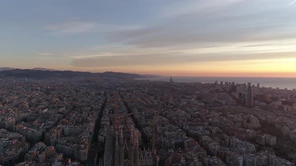 Thumbnail for Barcelona Skyline at Sunrise