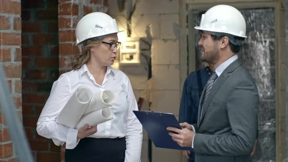 Thumbnail for Project Manager Showing Building to Businessman