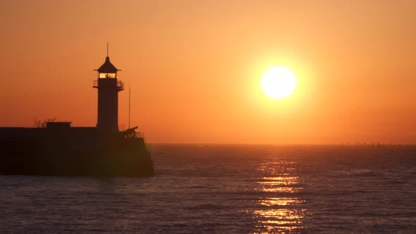 Thumbnail for Lighthouse Illuminated By the Rising Sun