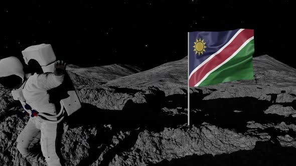 Thumbnail for Astronaut Planting Namibia Flag on the Moon