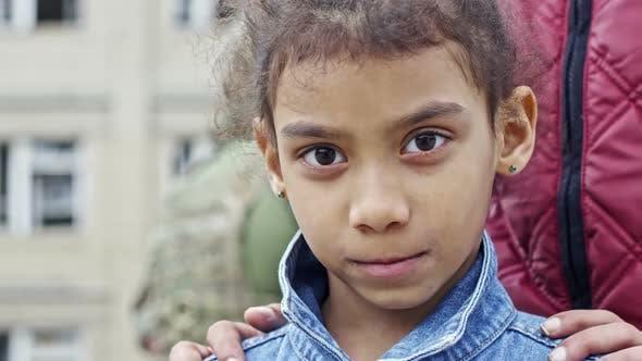 Thumbnail for Little Arab Girl Posing for Camera