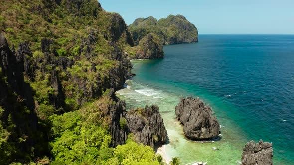 Thumbnail for Tropical Seawater Lagoon and Beach, Philippines, El Nido.
