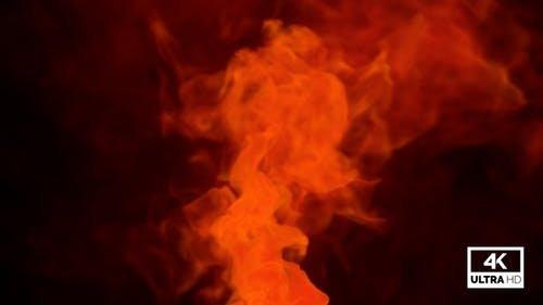 Fumée orange montante réaliste