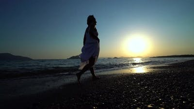 Happy Woman Walking