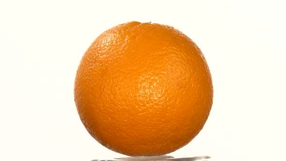 Thumbnail for Ripe Orange Isolated on White, Rotation