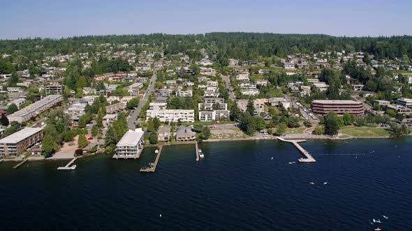 Thumbnail for Kirkland Washington Waterfront House Helicopter Aerial