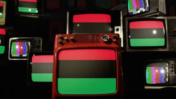 Pan-African flag on Retro Televisions.
