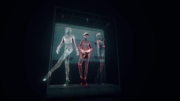 Thumbnail for Digitale weibliche Schaufensterpuppen 3d Hologramm Hd
