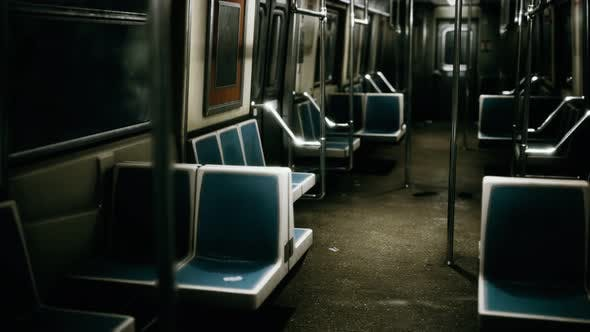 Thumbnail for Inside of New York Subway Empty Car