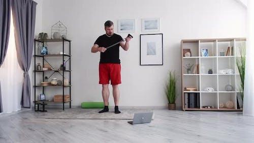 Fitness Beginner Chubby Man Healthy Sport