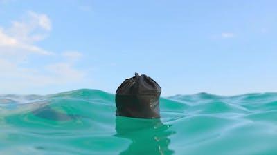 Trash Bag Bottles Pollution In Ocean