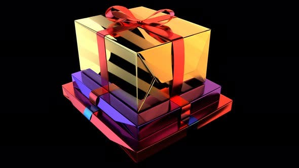 Thumbnail for Gift Boxes Angle Seamless Loop