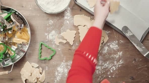Thumbnail for Step by step. Holiday season baking. Baking sugar cookies for Christmas
