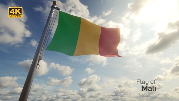Thumbnail for Mali Flag on a Flagpole - 4K