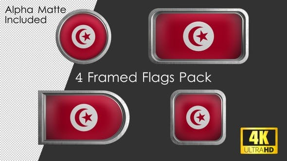 Thumbnail for Framed Tunisia Flag Pack