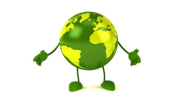 Fun green earth presenting