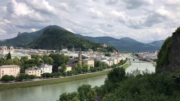 Time lapse from the Mönchsberg in Salzburg