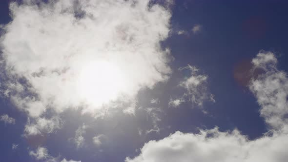 Thumbnail for Beautiful White Clouds Rolling Against Blue Sky in the Background