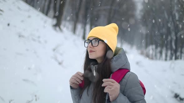 Thumbnail for Girl in Forest During Winter Season