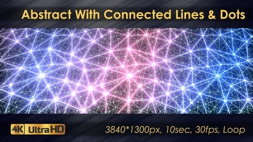 Abstract Polygonal Animation With Connected Lines And Dots