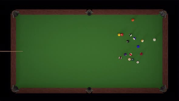 Cover Image for Starting Shot of a Billiard Game Top Views
