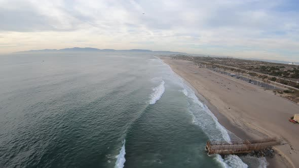 Thumbnail for Dockweiler Beach Playa Del Ray California Aerial View