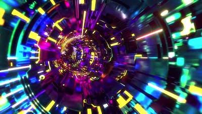 Cyberpunk Tunnel Infinite Loop