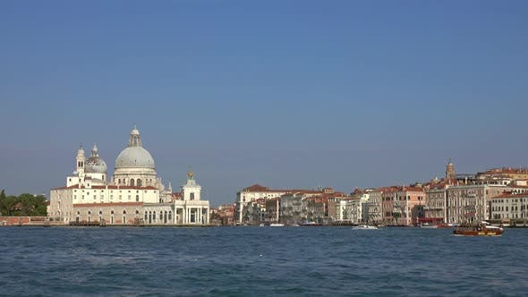 Thumbnail for View of Basilica Santa Maria in Venice From Boat