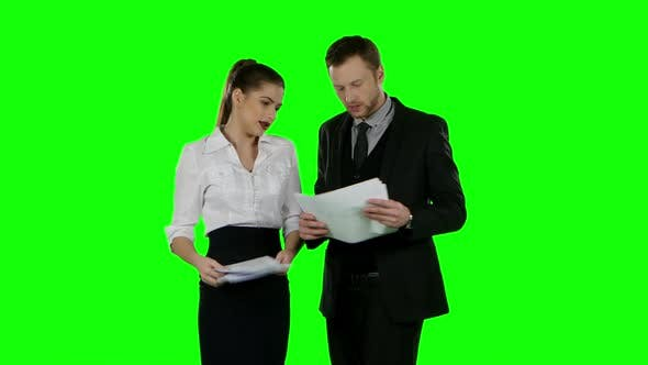 Thumbnail for Office Conflict. Green Screen